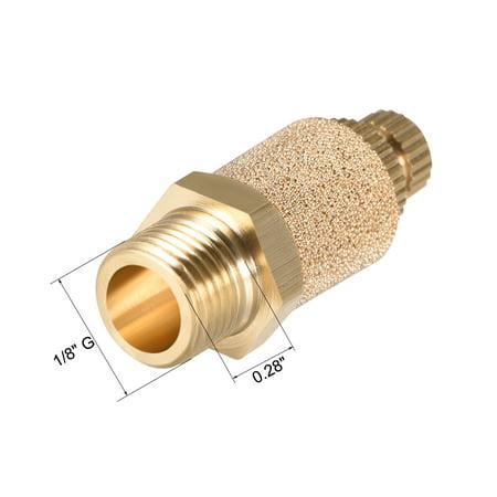 """Brass Exhaust Muffler, 1/8""""GTop Adjustable Bronze Muffler w Brass Body 2pcs - image 2 of 3"""