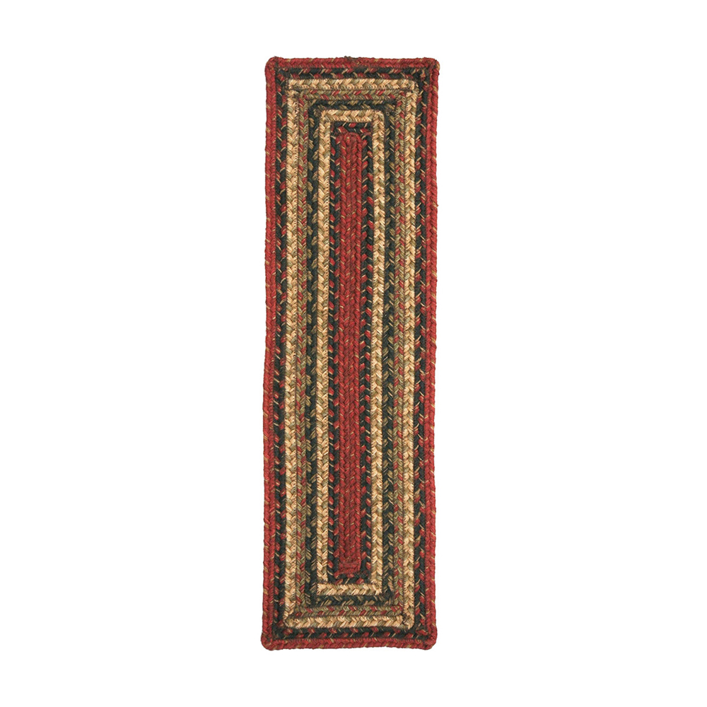"""Homespice Decor Vancouver Jute Braided Stair Tread Rug 8"""""""" x 28"""""""" Rectangle"""