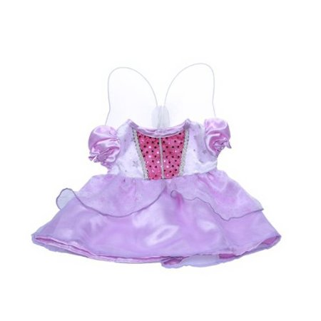 Dressed Teddy Bear - Purple Cinderella Dress w/Wings Teddy Bear Clothes Outfit Fits Most 14