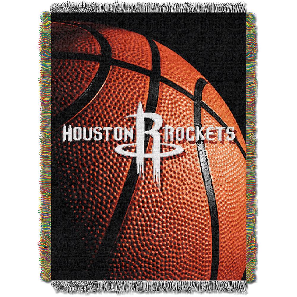 Houston Rockets NBA Woven Tapestry Throw Blanket (48x60)