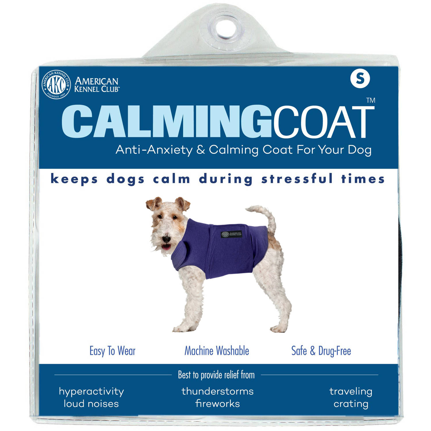 Image of AKC Calming Coat - Blue - Small