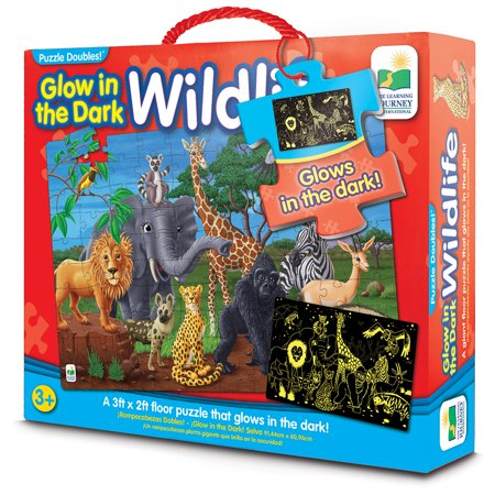 The Learning Journey Puzzle Doubles, Glow in the Dark and Wildlife](Wildlife Puzzles)