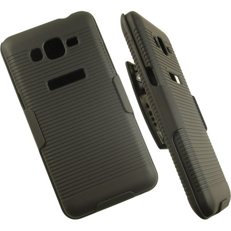 check out 4375b be6a9 NAKEDCELLPHONE'S BLACK RUBBERIZED HARD CASE COVER + BELT CLIP HOLSTER STAND  FOR SAMSUNG GALAXY GRAND PRIME PHONE (aka Grand Prime Duos, SM-G530H, ...