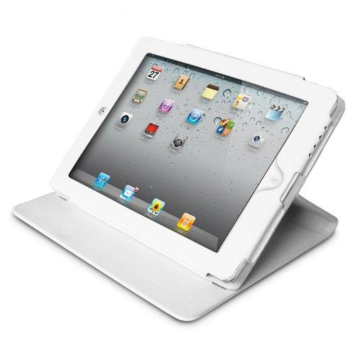 Premier Technologies LC-IPAD3-W Folio Leather Case W/ Stand Case White For Apple New Ipad Ipad3