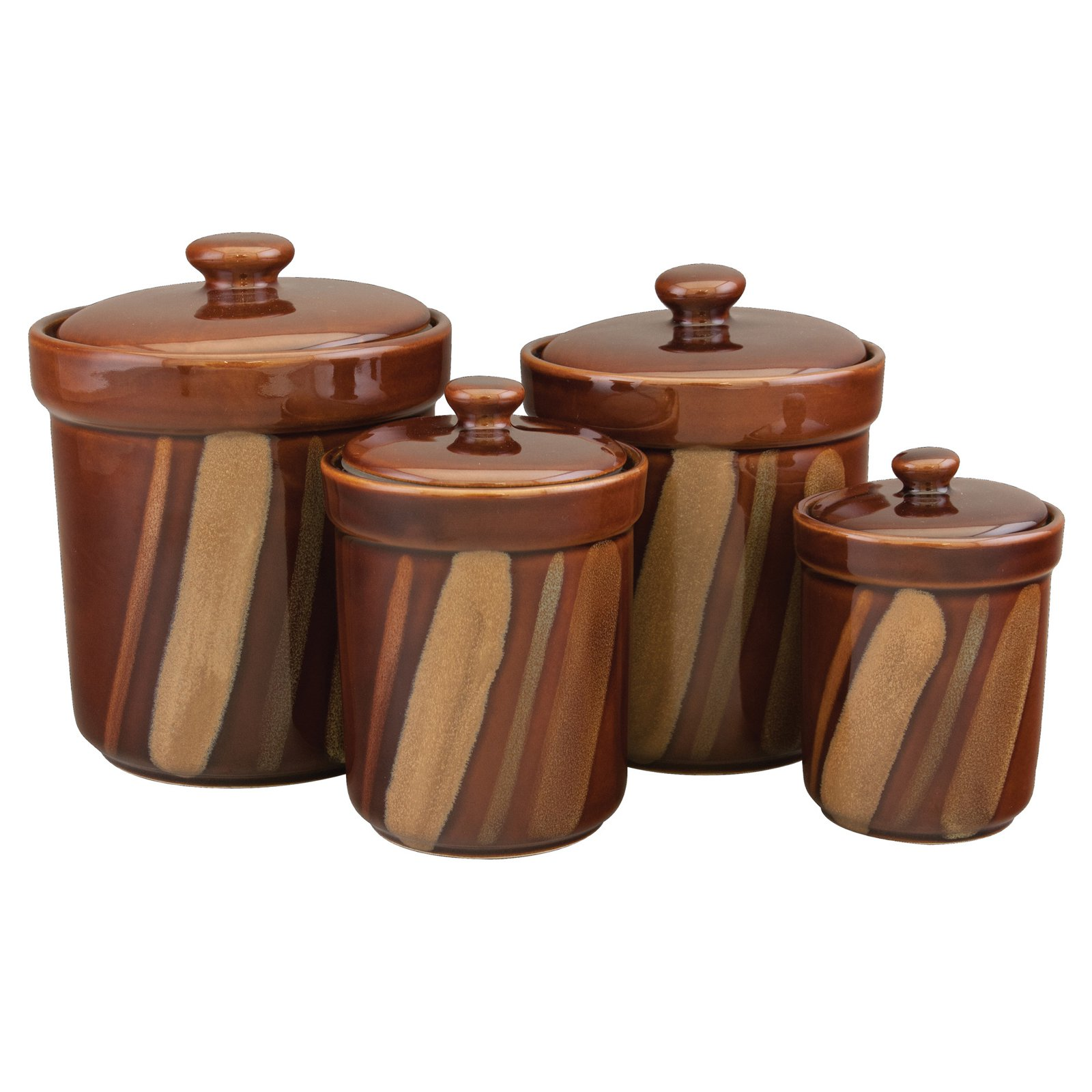 Sango Avanti 4 Piece Kitchen Canister Set