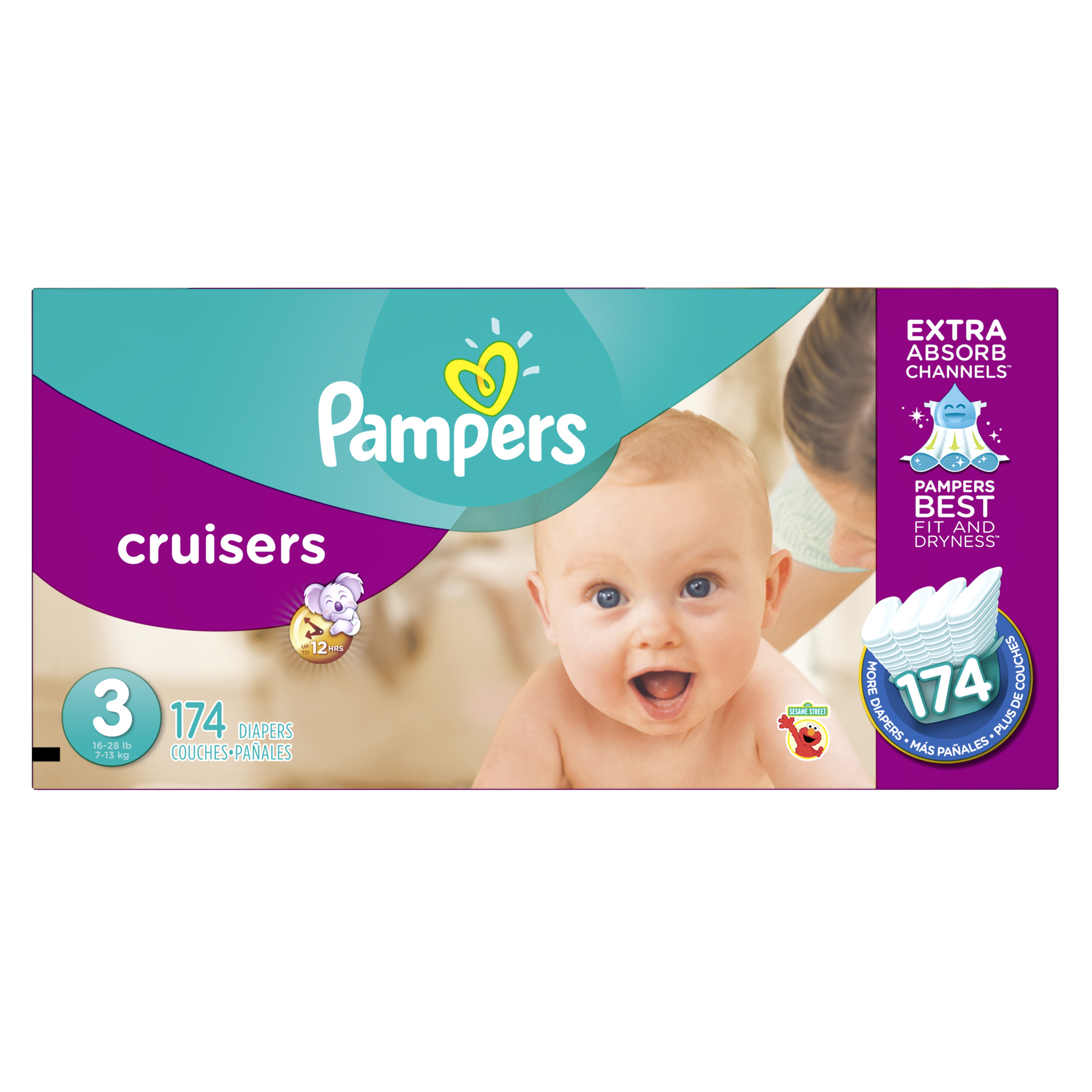Pampers Cruisers Diapers Size 3 174 count by Pampers
