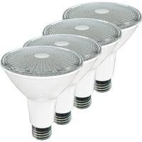 "SleekLighting LED Par 30 Long Neck,11 Watt,(75 Watt Equivalent),Soft White -3000K,800Lumens,""Dimmable"" Wide Flood Bulb,Indoor/Outdoor, Recessed Lighting, Spot Light,E26,ES&UL Wet Location 4Pack"