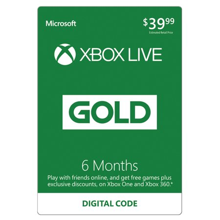 Xbox Live 6 Month Gold Membership (Email Delivery)