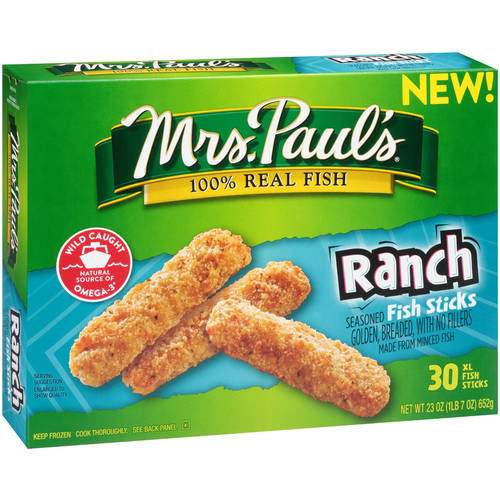 Mrs. Paul's Ranch Fish Sticks, 30 XL Fish Sticks