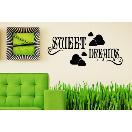 stickalz llc clouds and quote sweet dreams wall art sticker decal
