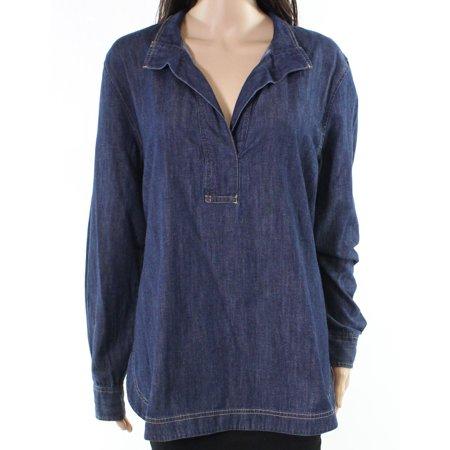 Lauren by Ralph Lauren NEW Blue Womens Size Large L Denim Tunic (Ralph Lauren Women Models)