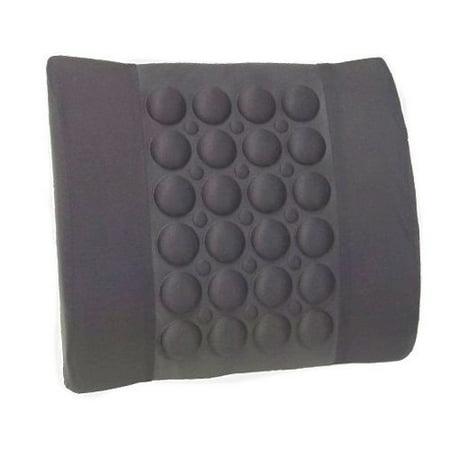 Portable Lumbar Support Ergonomic Style Back Seat Cushion RoyalCraft - Gray