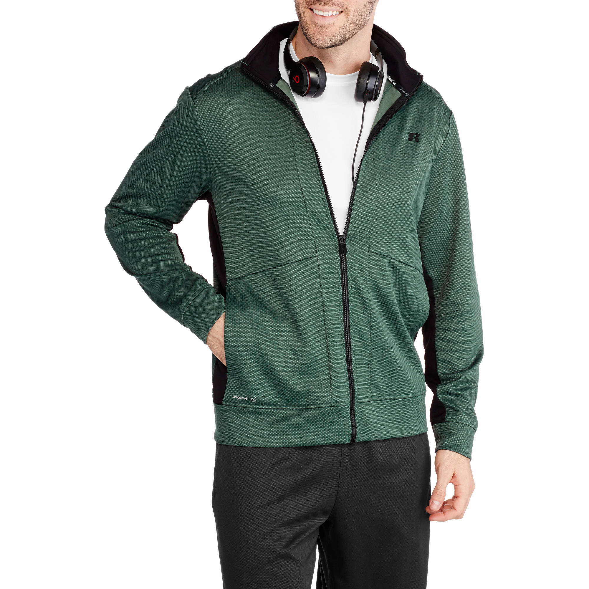 Russell Big Men's Knit Track Performance Jacket