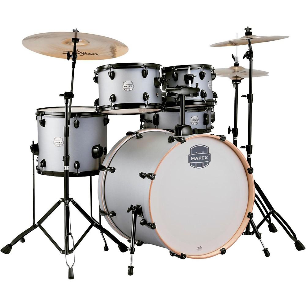 "Mapex ST5295FBIG Storm Rock 22"" Bass Drum 5-Piece Drum Set w  Hardware Iron Grey by Mapex"