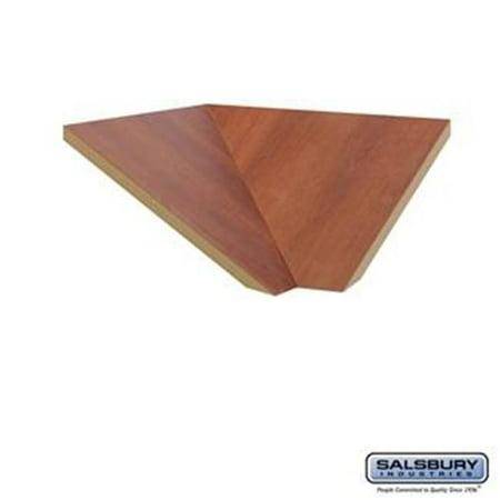 - SalsburyIndustries 33377CHE 15 in. Deep Designer Wood Locker Corner Sloping Hood Filler - Cherry