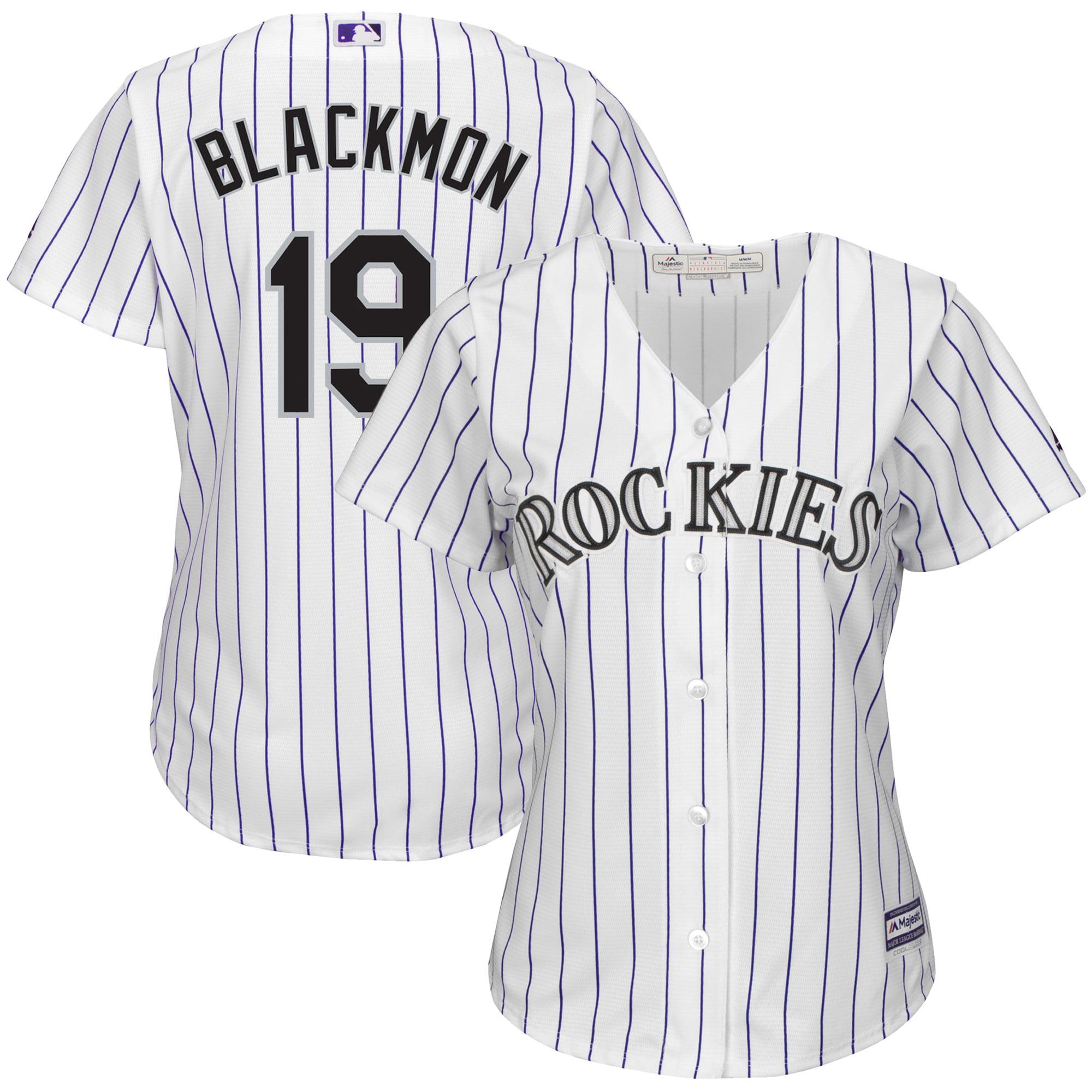 Charlie Blackmon Colorado Rockies Majestic Women's Cool Base Replica Player Jersey - White