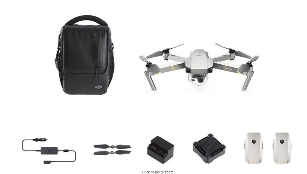 DJI Mavic Pro Platinum Fly More Combo Drone by DJI