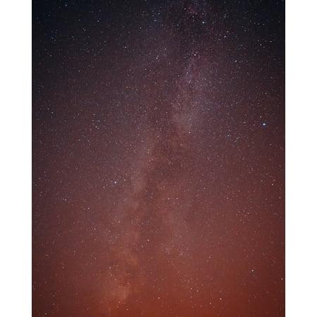 Orange Milky Sky Outdoor Wall Photography Artwork Skyline Poster ()