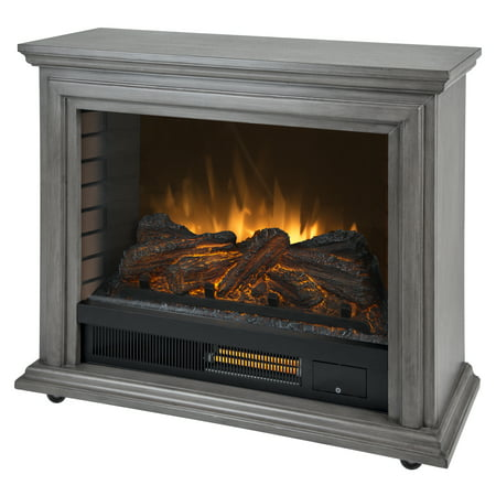 Fire Magic Infrared Burner System - Pleasant Hearth Sheridan Mobile Infrared Fireplace - Dark Weathered Grey