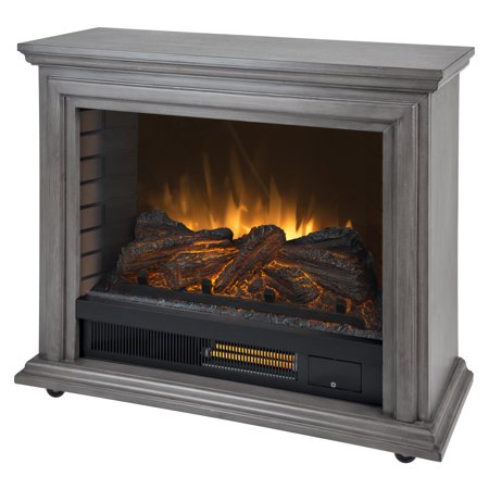 Pleasant Hearth Sheridan Mobile Infrared Fireplace - Dark ...