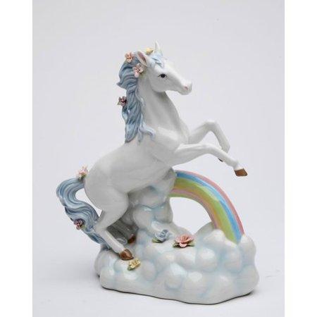 - Harriet Bee Faulks Unicorn Over The Rainbow Musical Box Figurine