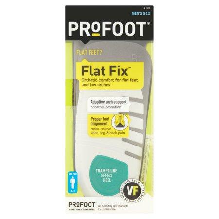 Profoot Flat Fix Mens 8 13 Trampoline Effect Heel  One Pair