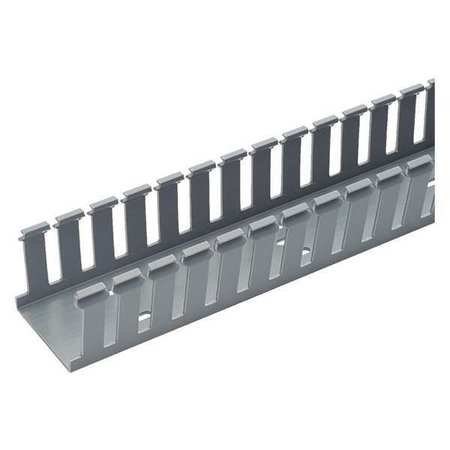 PANDUIT G2X3LG6 Wire Duct,Wide Slot,Gray,2.25 W x 3 (3 Open Slot Wire Duct)