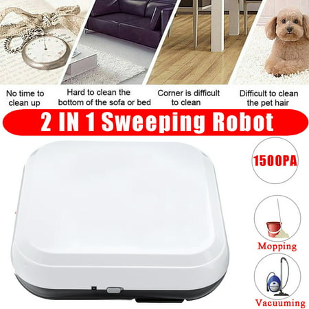 2 IN 1 Automatic Mini Sweeping Robot USB Mopping & Vacuum Cleaning Machine Dust Cleaner 1500Pa Intelligent Sweeping Household Appliance Smart - Mopping Machine
