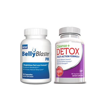 Blaster Belly Diet Kit - Belly Blaster PM Night Time Sleep Aid W / Cleanse Detox &