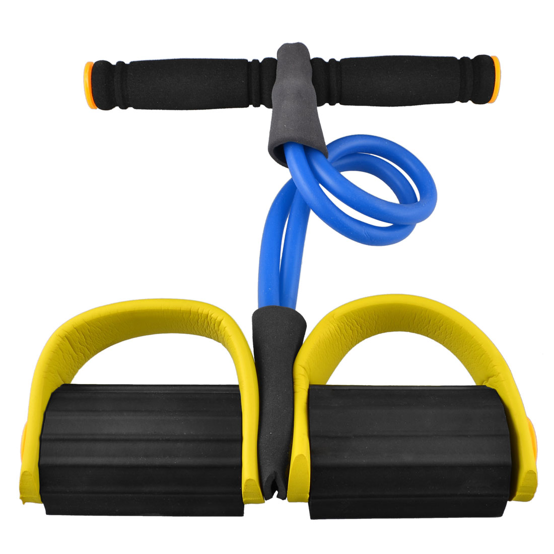 Unique Bargains Fitness Equipment Gut Buster Body Tummy Trimmer Blue Yellow