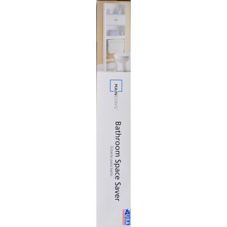 Mainstays wood spacesaver white best buy bathroom shelves for Chapter bathroom space saver white assembly instructions