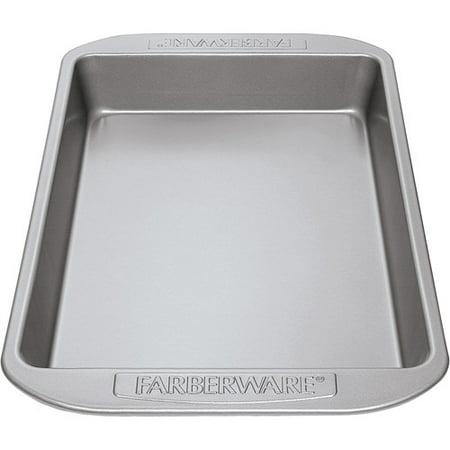 Farberware Nonstick Bakeware 9-Inch x 13-Inch Rectangular Cake Pan, Gray ()