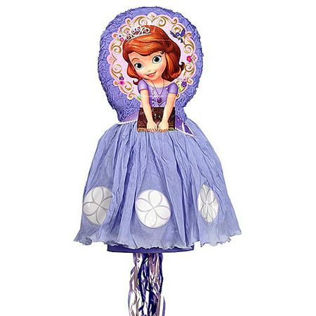 Disney Sofia the First 3D Pull String Pinata - Disney Princess Pinata