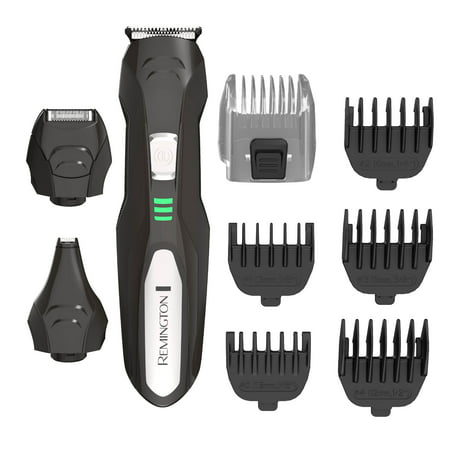 Remington Lithium All-In-One Men's Grooming Kit, Black/Silver,
