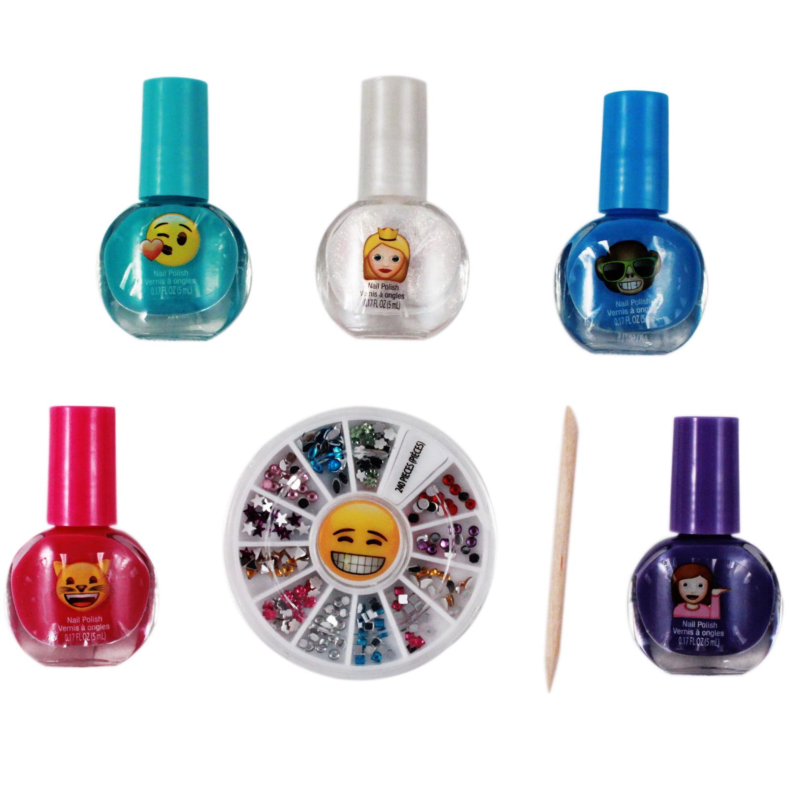 Emoji Nail Sticker and Gem Decoration Gift Set - Walmart.com
