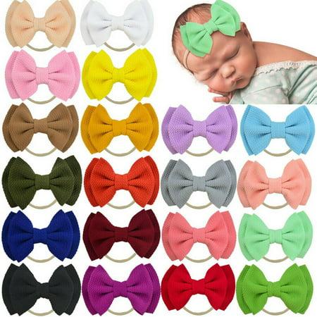 SUNSIOM Sweet Infants Newborn Baby Girls Double Bow Hair Band Kids Headband 14 Colors
