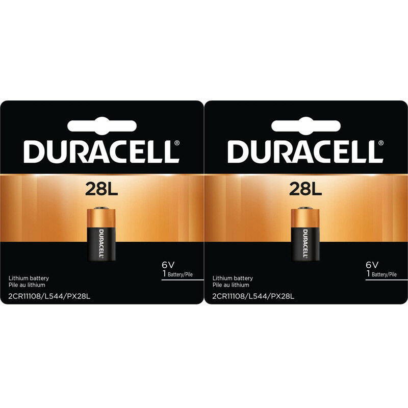 2 X Duracell 28L, PX28LBPK, L544, PX28L Lithium 6V Photo Battery
