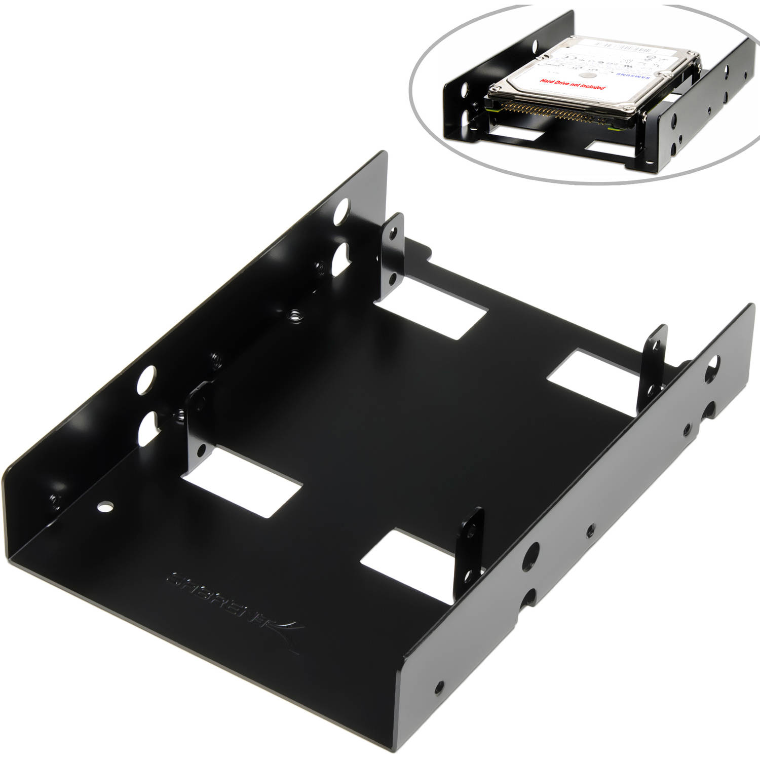 "Sabrent 2.5"" to 3.5"" Internal Hard Disk Drive Mounting Bracket Kit, BK-HDDF"