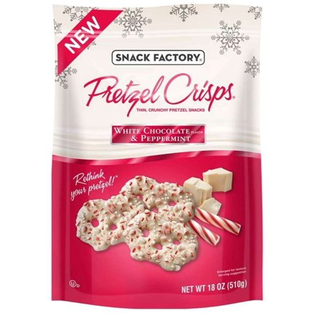 White Chocolate Peppermint Pretzel Crisps Snack Factory