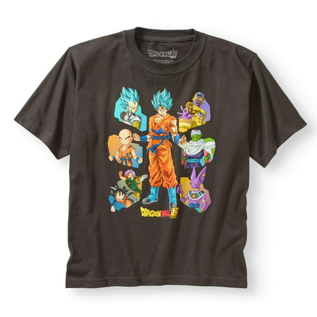 Super dragon ball z boys' short sleeve character t-shirt