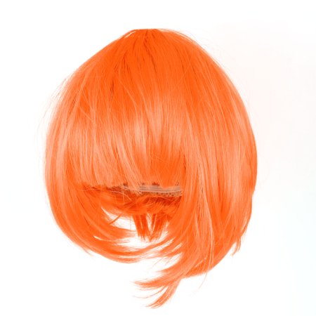 Unique Bargains Women Sexy Short  Cut Fancy Dress Wig Party Costume Hair Full Wig Orange - Cheap Dress Up Wigs