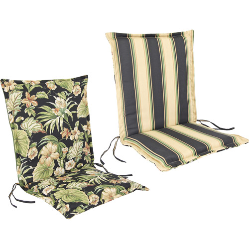 Jordan Manufacturing Reversible Outdoor Flanged Chair Cushion, Multiple Patterns