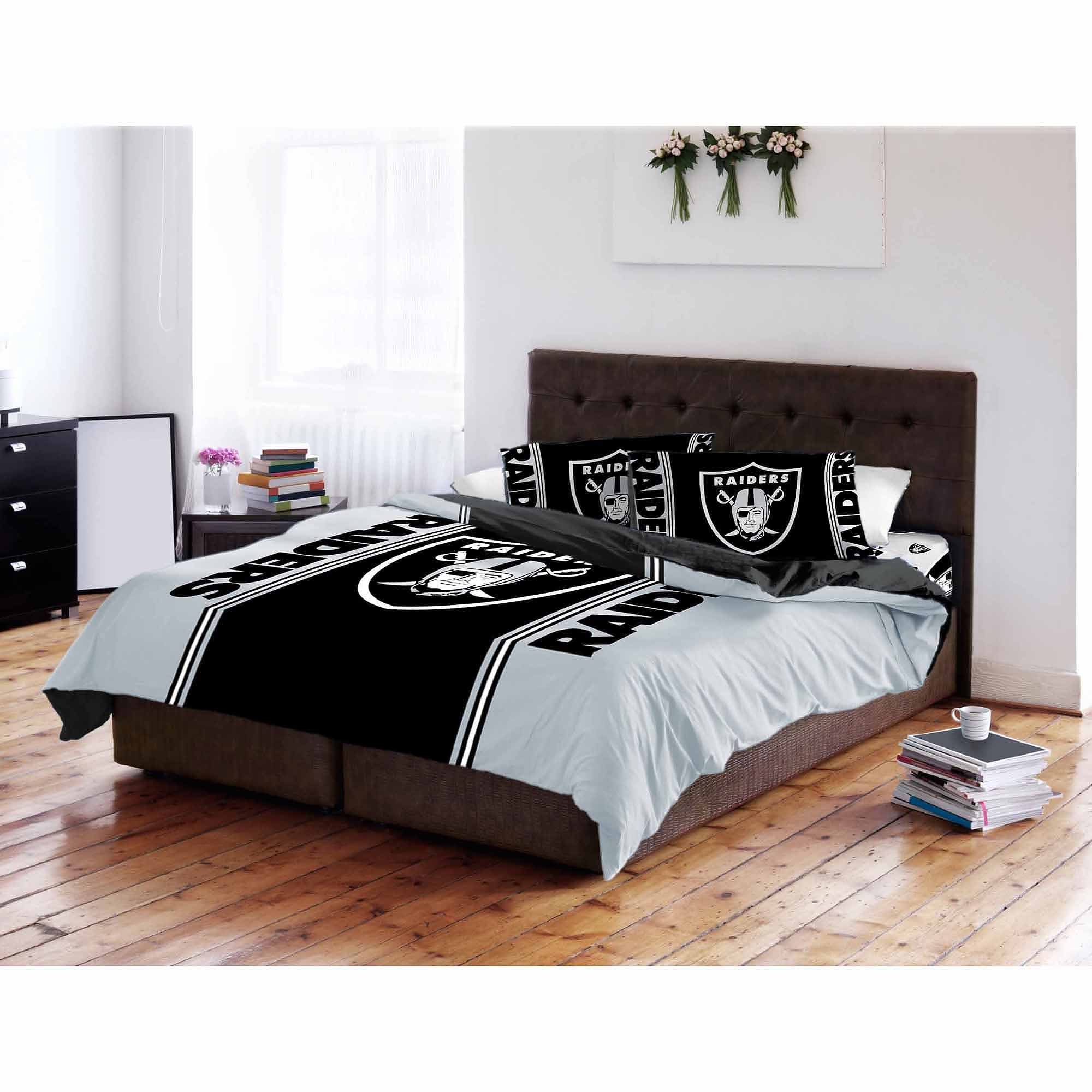 Nfl Oakland Raiders T/f Comforter