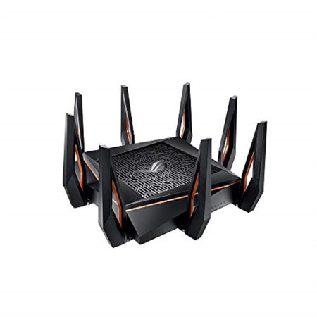 asus rog rapture gt-ax11000 ax11000 tri-band 10 gigabit wifi router, aiprotection lifetime security by trend micro, aimesh compatible for mesh wifi system, next-gen wifi 6, wireless 802.11ax, 8 x