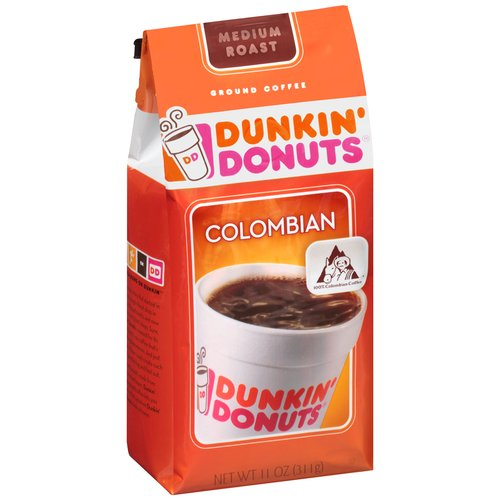 Dunkin' Donuts Colombian Ground Coffee, 11 oz
