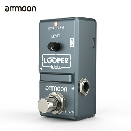 Loop Pedal (ammoon AP-09  Nano Loop Electric Guitar Effect Pedal Looper True Bypass Unlimited Overdubs 10 Minutes Recording with USB)