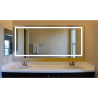 Terra LED Wall Mount Lighted Vanity Mirror Featuring IR Sensor, Rocker Switch and Durable Aluminum Frame