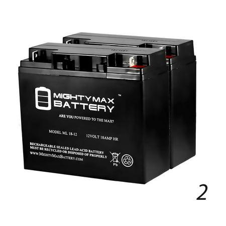 12V 18AH SLA Battery for CalVan Tools 556 Marine - 2 Pack