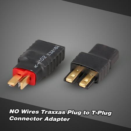 NO Wires Traxxas Plug Female to T-Plug Male and Traxxas Male to T-Plug Female Connector Adapter