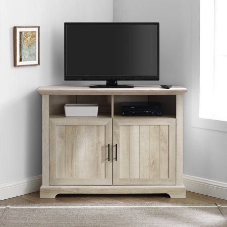 Douglas Two-Door White Oak Corner TV Stand by Birch Harbor Maple Oak Tv Stand